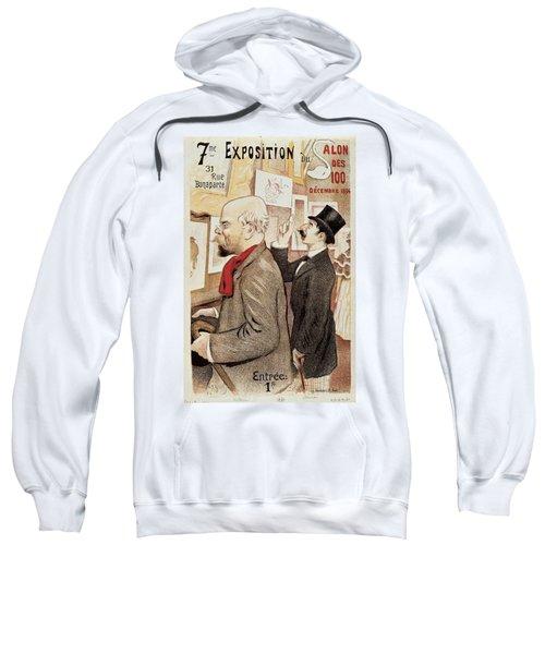 France Paris Poster Of Paul Verlaine And Jean Moreas Sweatshirt