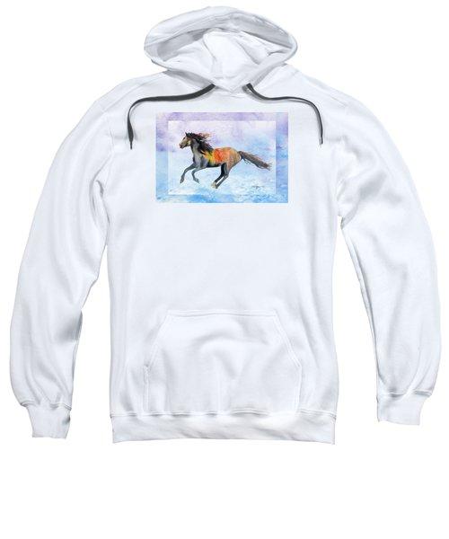 Da114 Free Gallop By Daniel Adams Sweatshirt