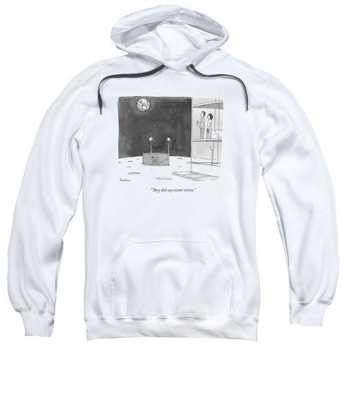 From An Apartment Window On The Moon Sweatshirt