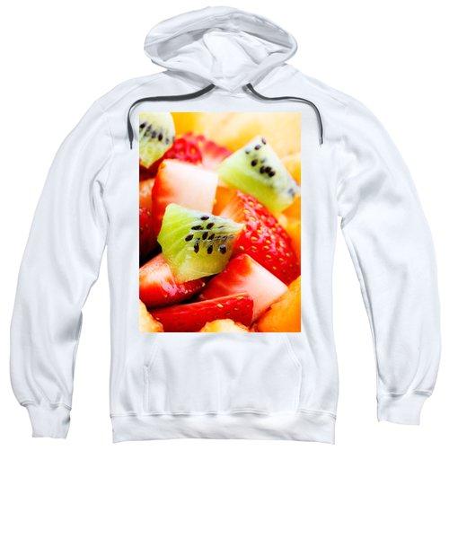 Fruit Salad Macro Sweatshirt by Johan Swanepoel
