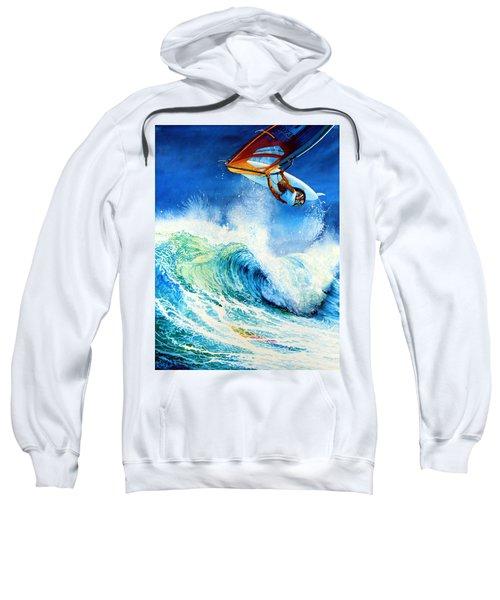 Sweatshirt featuring the painting Getting Air by Hanne Lore Koehler