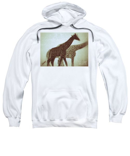 Giraffes In The Mist Sweatshirt