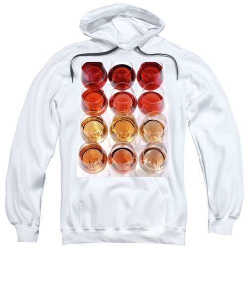 Glasses Of Rose Wine Sweatshirt