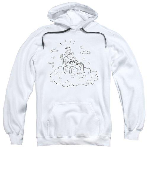 God Sits On A Throne Wearing A Shirt Reading Sweatshirt
