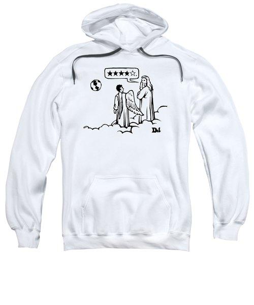 God To An Angel On A Cloud Overlooking Earth Sweatshirt