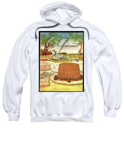 Gourmet Cover Featuring A Buffet Farm Scene Sweatshirt
