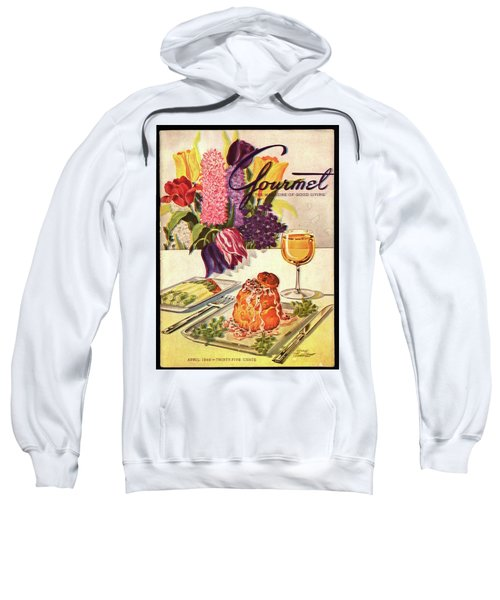 Gourmet Cover Featuring Sweetbread And Asparagus Sweatshirt by Henry Stahlhut