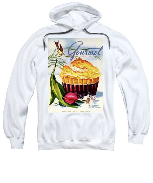 Gourmet Cover Illustration Of A Souffle And Tulip Sweatshirt