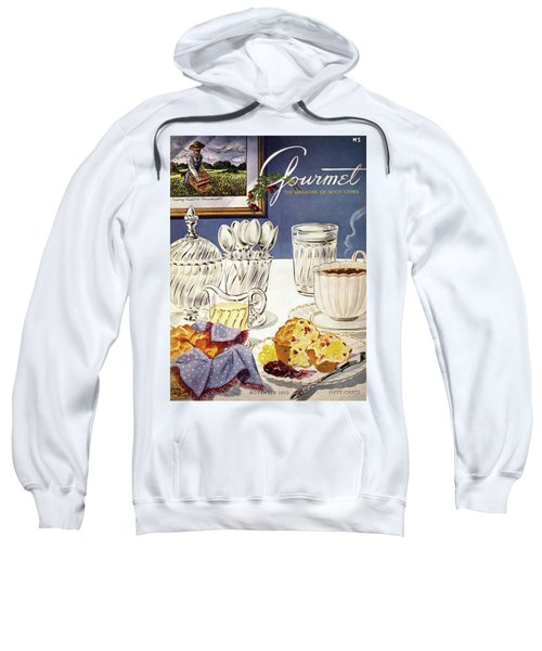 Gourmet Cover Illustration Of Cranberry Muffins Sweatshirt