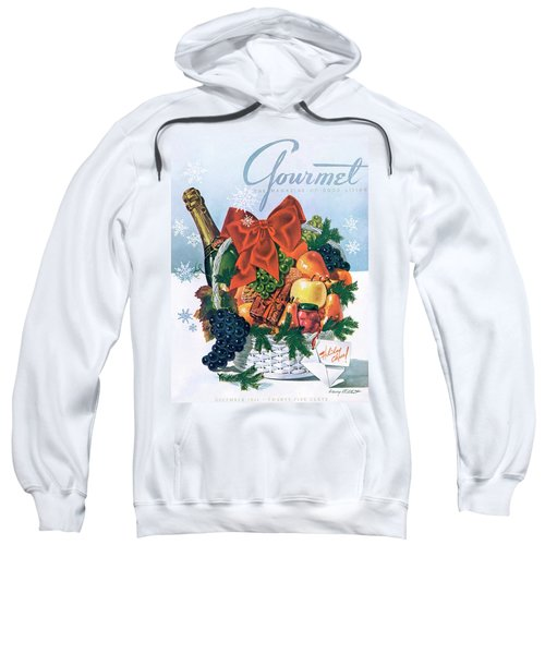 Gourmet Cover Illustration Of Holiday Fruit Basket Sweatshirt