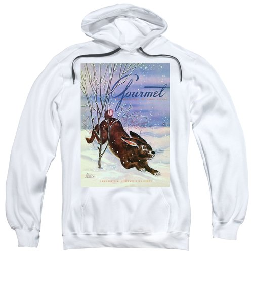Gourmet Cover Of A Rabbit On Snow Sweatshirt