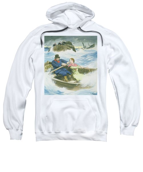 Grace Darling And Her Father Rescuing Sweatshirt