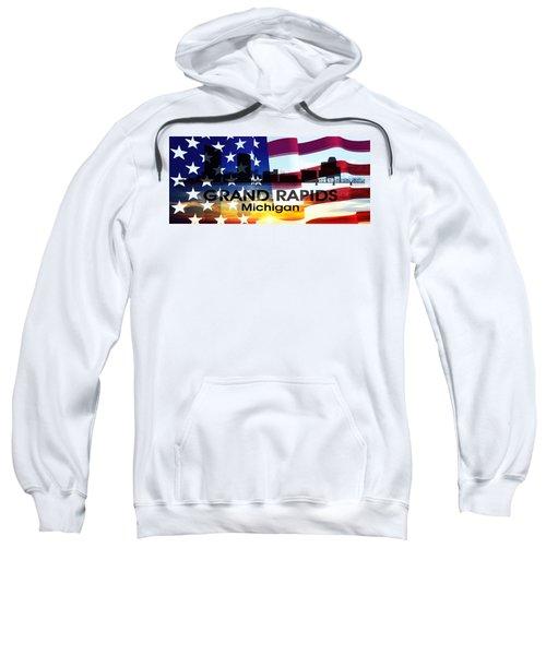 Grand Rapids Mi Patriotic Large Cityscape Sweatshirt
