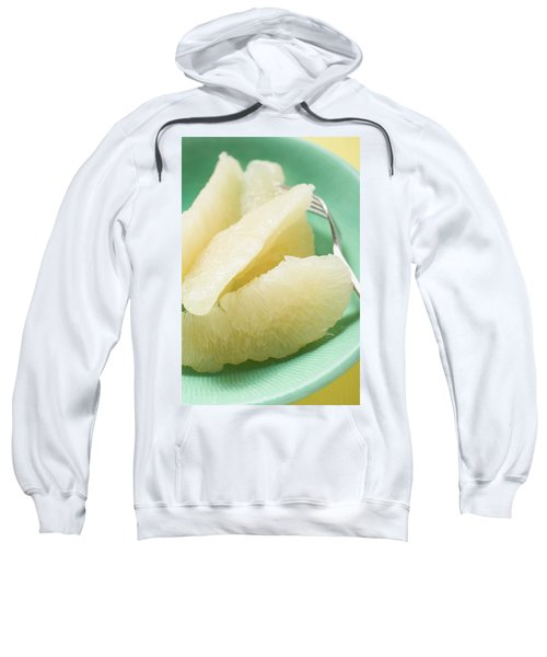 Grapefruit Segments On Plate With Fork Sweatshirt