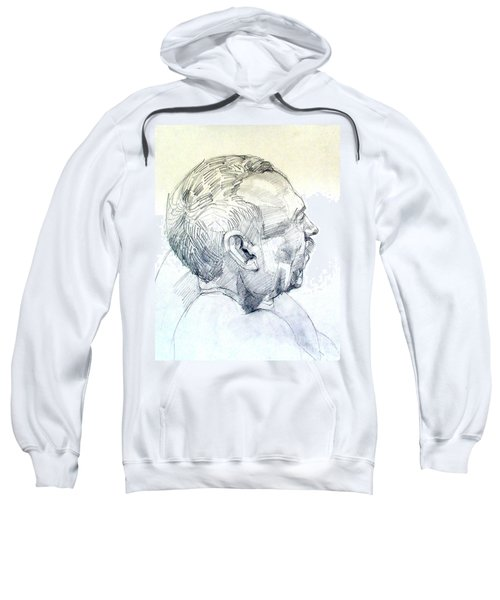 Graphite Portrait Sketch Of A Man In Profile Sweatshirt