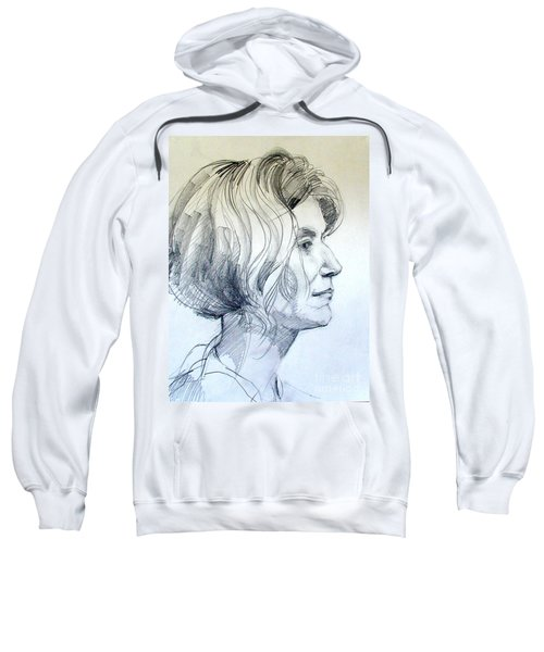Portrait Drawing Of A Woman In Profile Sweatshirt