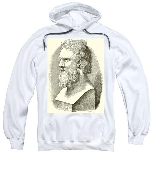 Greek Bust Of Plato Sweatshirt