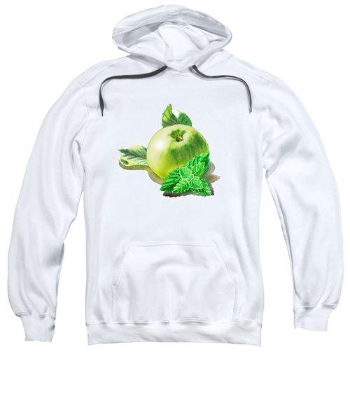 Green Apple And Mint Happy Union Sweatshirt by Irina Sztukowski