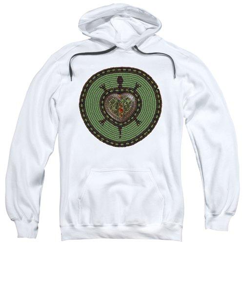 Green Heart Turtle Sweatshirt
