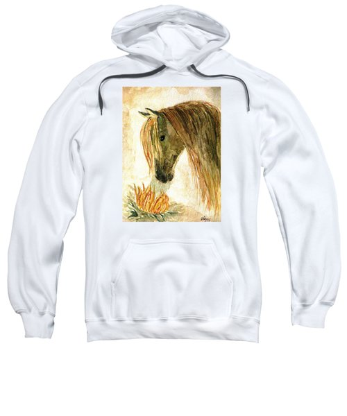 Greeting A Sunflower Sweatshirt