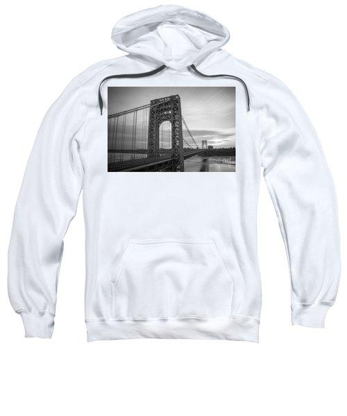 Gw Bridge Winter Sunrise Sweatshirt
