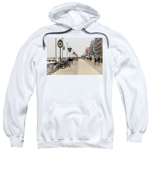 Heat Waves Make The Boardwalk Shimmer In The Distance Sweatshirt
