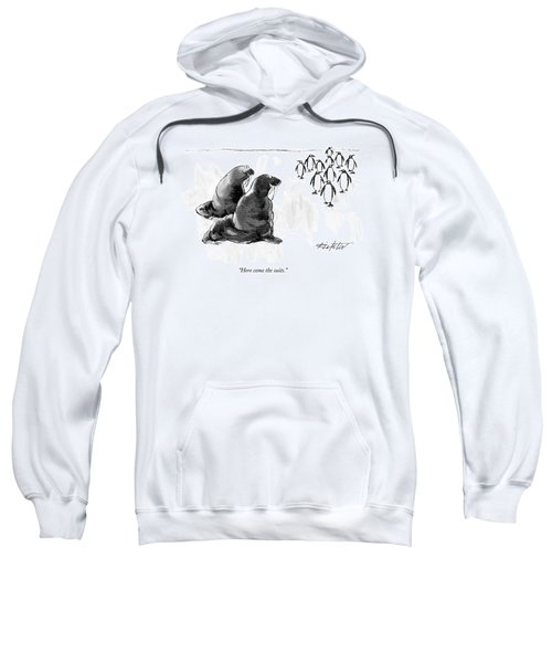 Here Come The Suits Sweatshirt