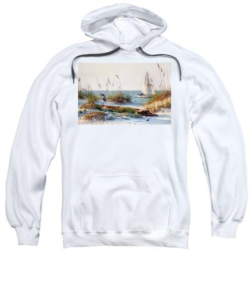 Heron And Sailboat Sweatshirt