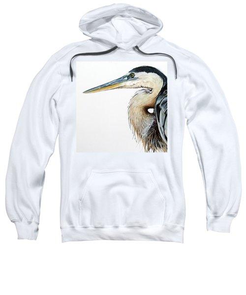 Heron Study Square Format Sweatshirt