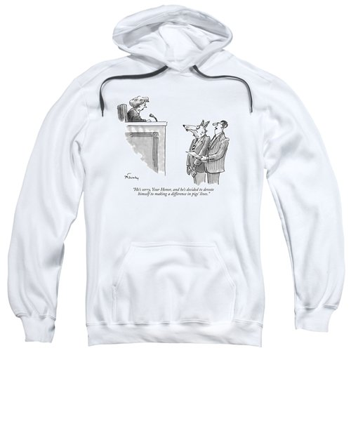 He's Sorry, Your Honor, And He's Decided Sweatshirt