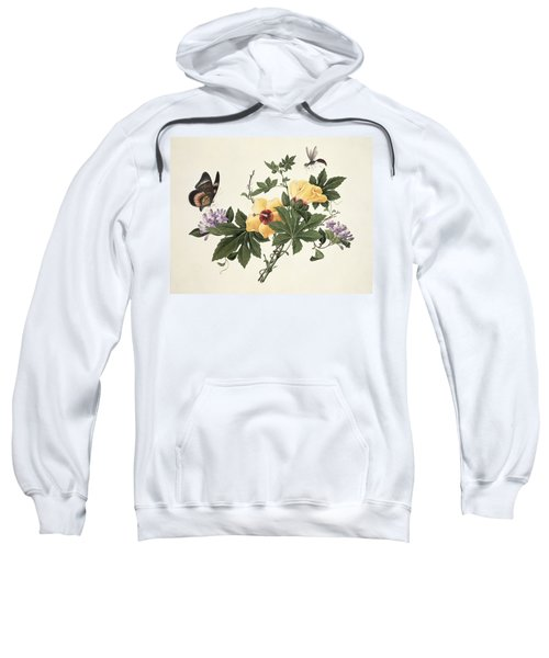 Hibiscus And Butterfly Sweatshirt