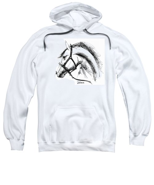 Horse Face Ink Sketch Drawing Sweatshirt