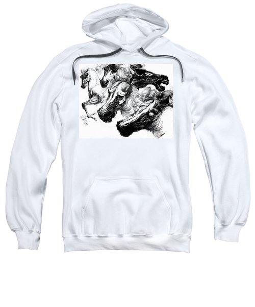 Horse Ink Drawing  Sweatshirt
