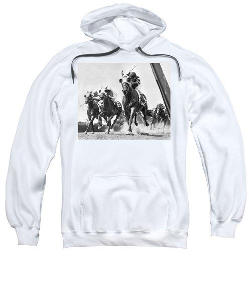 Horse Racing At Belmont Park Sweatshirt