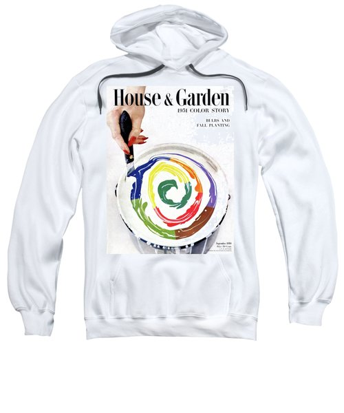 House & Garden Cover Of A Woman's Hand Stirring Sweatshirt