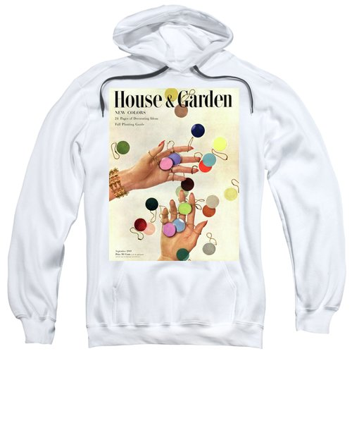 House & Garden Cover Of Woman's Hands With An Sweatshirt
