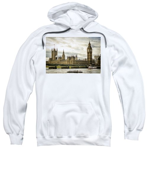 Houses Of Parliament On The Thames Sweatshirt