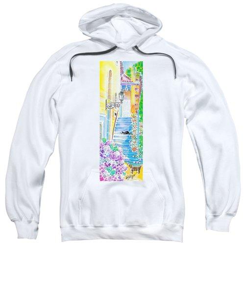 Hydrangeas And The Hotel Sweatshirt