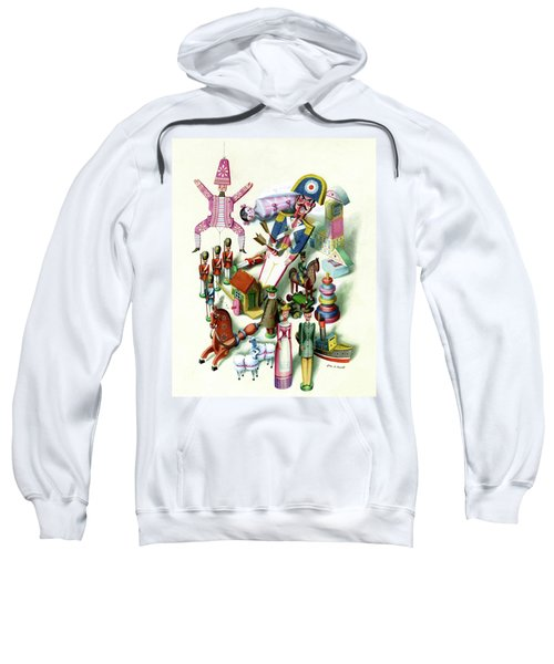 Illustration Of A Group Of Children's Toys Sweatshirt