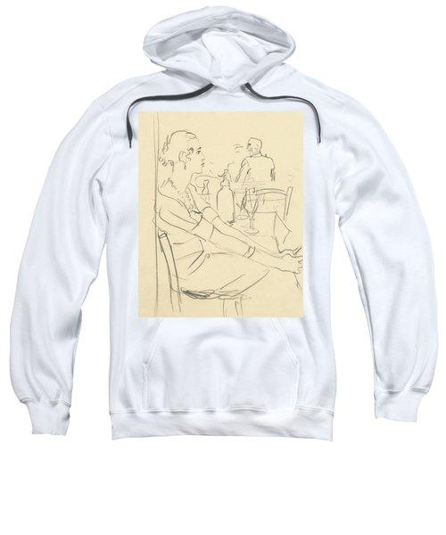Illustration Of A Woman Sitting Down Sweatshirt