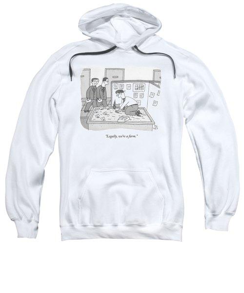In An Office Sweatshirt