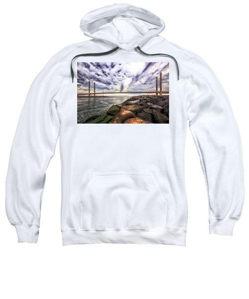 Indian River Bridge Clouds Sweatshirt