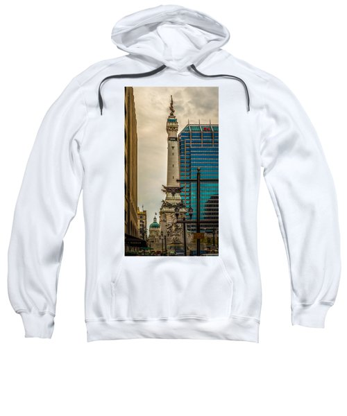 Indiana - Monument Circle With State Capital Building Sweatshirt