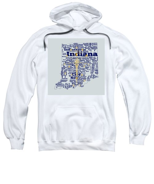 Indiana State Flag Word Cloud Sweatshirt