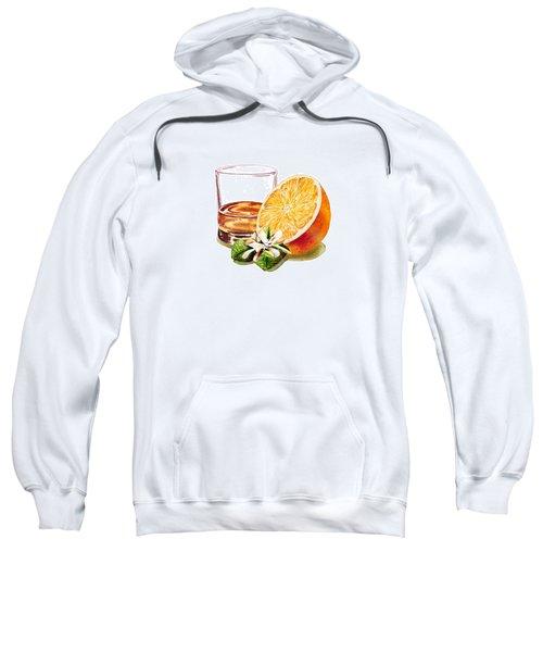 Irish Whiskey And Orange Sweatshirt by Irina Sztukowski