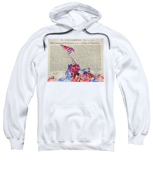 Iwo Jima Declaration Of Freedom Sweatshirt