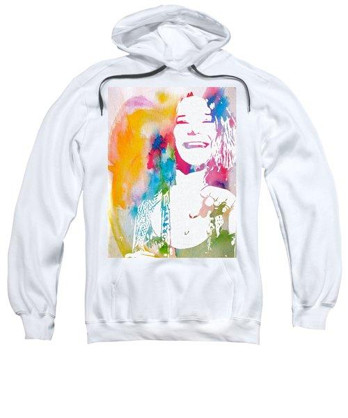 Janis Joplin Watercolor Sweatshirt