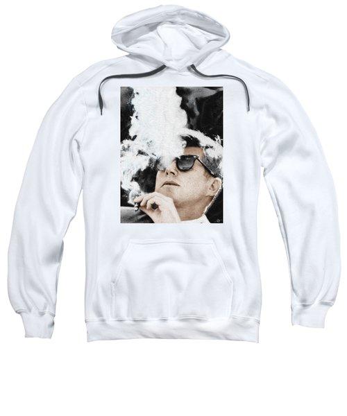 John F Kennedy Cigar And Sunglasses Sweatshirt