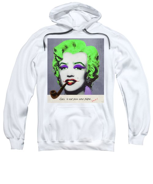 Joker Marilyn With Surreal Pipe Sweatshirt by Filippo B
