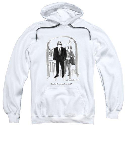 Just In.  Tommy Lee Jones Black Sweatshirt